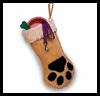 Dog   Paw Stockings  : How to Make Christmas Stockings Activities for Children