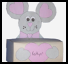 Mouse    Box for Valentine's Cards  : Paper Folding Gift Box Models