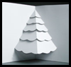 How   to Make a Christmas Tree Pop up Card