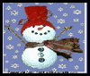 Frosty   the Snowman Recycled Lightbulb Craft