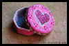 Valentine Clay Keepsake Box to Make with Rhinestones