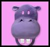 Hipopótamos felices: ideas para hacer máscaras para niños