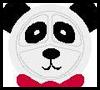 Panda máscara o tapices: Máscara hacer tutoriales
