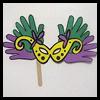 Handprint carnaval Máscaras: ideas para hacer máscaras para niños
