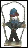 No-Sew   Scarecrow Doll on a Swing