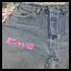 Stenciled   Love Jeans