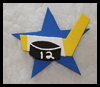 Hockey   Star Pin or Magnet