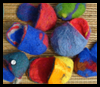 Felted   Pouches  : Pantyhose Crafts Ideas for Children