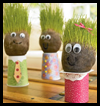 Grass   Head Guys   : Hosiery Crafts Activities Projects