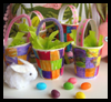 Mini   Easter Basket Tutorials   : Crafts with Paper Cups Ideas for Children