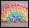 Cereal Rainbows  : Plate Crafts Ideas for Kids