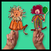 Fuzzy,   Fun Finger Puppets  : Crafts with Paper Plates