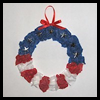 Patriotic   Tissue Paper Wreaths  : Disposable Plates Arts & Crafts