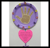 Mother's   Day Handprint Poems  : Crafts with Paper Plates