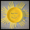 Hand   Print Sun  : Crafts with Paper Plates