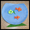 Fish   Bowl Crafts   : Paper Plate Crafts Ideas for Children