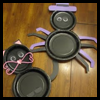 Halloween   Paper Plate Crafts (Black Cat and Spider)