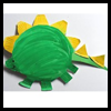 Paper   Plate Stegosaurus  : Disposable Plates Arts & Crafts