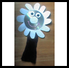 CD   Daisy Puppet Crafts  : Plate Crafts Ideas for Kids