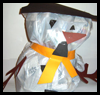 Plastic   Bag Snowman  : Crafts with Plastic Bags