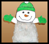 Snowman   Craft for Kids  : Crafts with Plastic Bags