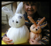 Plastic   Bag Bunnies  : Crafts with Plastic Bags