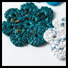 Crocheted   Plastic Bag Coasters  : Plastic Bag Crafts for Kids