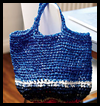 Two   crocheted tote bags  : Crafts with Plastic Bags
