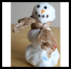 Recycled   Grocery Bag Snowman  : Crafts with Plastic Bags