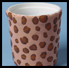 Leopard-Spot   Desk Organizers  : Plastic Cup Crafts for Kids
