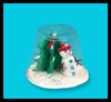 Winter   Snow Globes    : Crafts Activities with Plastic Cups