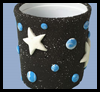 Celestial   Dreams Pencil Cups  : Plastic Cup Crafts for Kids