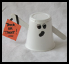 Plastic   Cup Ghosts   : Crafts with Plastic Cups Ideas for Children
