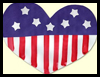President's    Day Craft:Patriotic Heart