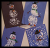 Cotton   Swab Painting- Snowman  : Q-Tip Crafts / Cotton Swab Crafts for Kids