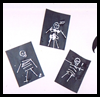 Skeleton   Crafts: Cotton Swab Skeletons  : Q-Tip Crafts / Cotton Swab Crafts for Kids