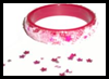 Bling   Bling Plastic Bangle