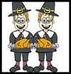 Free Printable Thanksgiving Pilgrim Cards for Kids