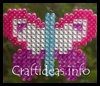 Spring   Craft for Kids - Fuse Bead Butterfly Window Decoration