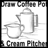 How to Draw Coffee Pot and Pitcher of Cream Drawing Lesson