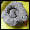 Sleepy   Snake from Pantyhose  : Stocking Crafts for Kids