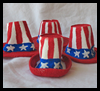 Miniature   Uncle Sam Hats   : Styrofoam Cup Crafts for Kids
