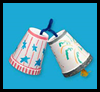 Independence   Day Bells   : Styrofoam Cup Crafts for Kids