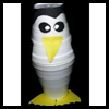 Styrofoam   Cup Penguins  : Crafts Activities with Styrofoam Cups Ideas for Children