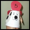 Fire   Dog Cup Puppets   : Styrofoam Cup Crafts for Kids
