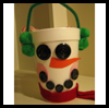 Snowman   Cups  : Crafts Activities with Styrofoam Cups Ideas for Children