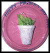 Mother's   Day Flower Pot Hangings   : Styrofoam Cup Crafts for Kids