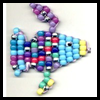 Beaded   Rainbow Fish Summer Craft for Children