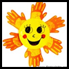 Yellow   Handprint Sun