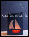 Paper   Lantern with Sailboat Motif